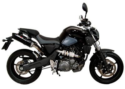 Escape / Ponteira Coyote TRS Tri-Oval Alumínio PAR MT-03 - Preto - Yamaha