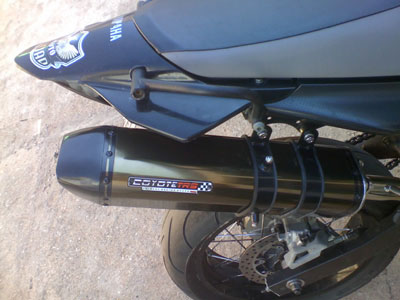 Escape / Ponteira Coyote TRS Tri-Oval Alumínio PAR - XT 660 R - Preto - Yamaha