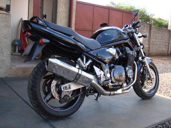Escape / Ponteira Coyote TRS Tri-Oval Alumínio Bandit 1200 N/S até 2003 - Preto - Suzuki