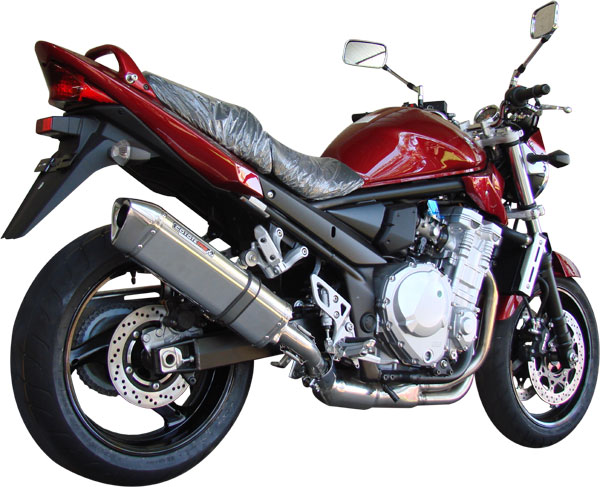 Escape / Ponteira Coyote TRS Tri-Oval Alumínio Bandit 650 N/S até 2008 - Preto - Suzuki