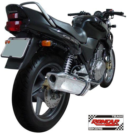 Escape / Ponteira Coyote TRS Tri-Oval Alumínio CB 500 1997 até 2005 - Preto - Honda