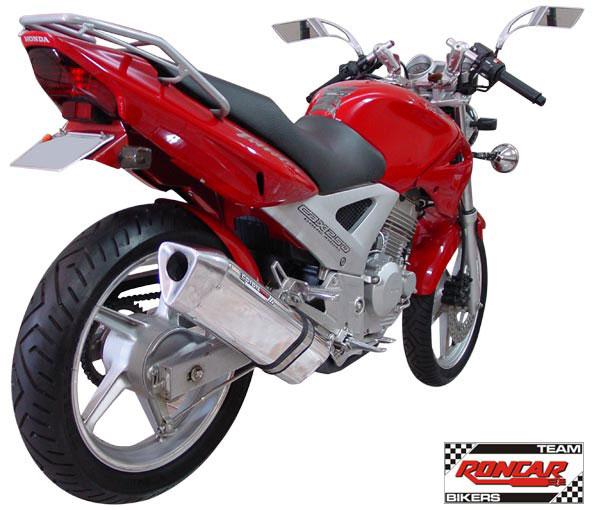 Escape / Ponteira Coyote TRS Tri-Oval Alumínio Preto - Twister CBX 250 Todos os Anos - Honda