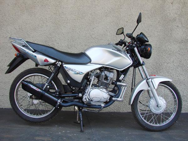 Escape / Ponteira Coyote TRS Tri-Oval Alumínio CG 150 Titan ESD até 2008 - Preto - Honda