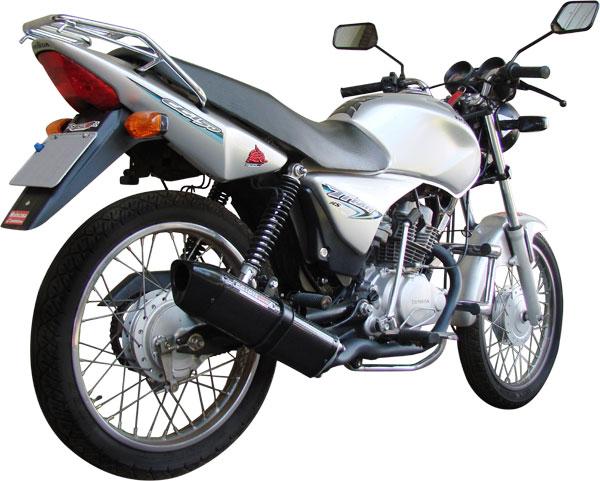 Escape / Ponteira Coyote TRS Tri-Oval Alumínio CG 150 Titan KS / ES até 2008 - Preto - Honda