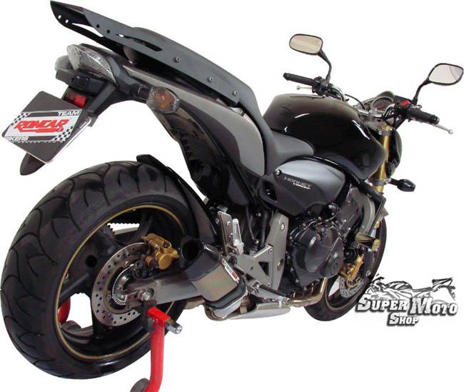 Escape / Ponteira Coyote TRS Tri-Oval 200mm Alumínio CB Hornet 600 2008 em Diante - Preto Black - Honda