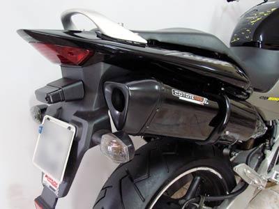 Escape / Ponteira Coyote TRS Tri-Oval Alumínio CB Hornet 600 até 2007 - Preto - Honda