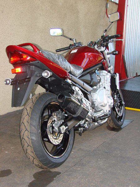Escape / Ponteira Coyote FIVE Alumínio Bandit 1200 S/N 2004 até 2006 - Preto Black - Suzuki