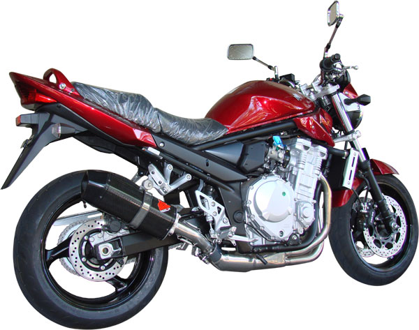 Escape / Ponteira Coyote FIVE Alumínio Bandit 650 N/S até 2008 - Preto Black - Suzuki