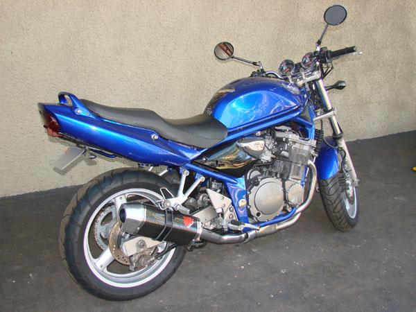 Escape / Ponteira Coyote FIVE Alumínio Bandit 600 - Preto - Suzuki