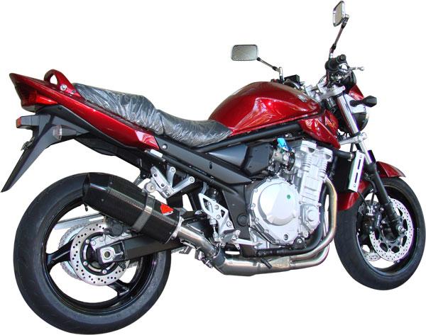 Escape / Ponteira Coyote FIVE Alumínio Bandit 650 N/S até 2008 - Preto - Suzuki