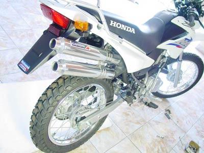 Escape / Ponteira Coyote Competition Alumínio Duplo NX-R Bros 125/150 até 2008 - Polido - Honda