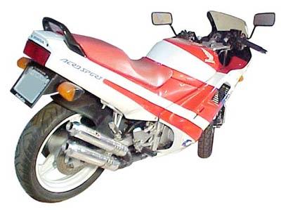 Escape / Ponteira Coyote Competition Alumínio Duplo - CBR 450 SR - Preto - Honda