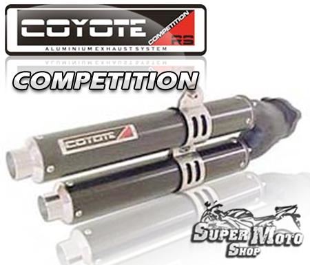 Escape / Ponteira Coyote Competition Aluminio Preto - C 100 Biz Todos os Modelos