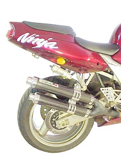 Escape / Ponteira Coyote Competition Alumínio Duplo ZX 9R até 1997 - Preto - Kawasaki