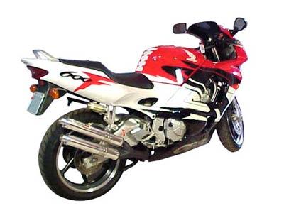 Escape / Ponteira Coyote Competition Alumínio Duplo CBR 600 F até 1998 - Preto - Honda