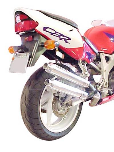 Escape / Ponteira Coyote Competition Alumínio Duplo - CBR 900 até 1999 - Preto - Honda
