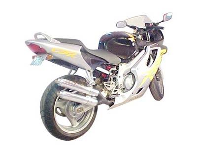 Escape / Ponteira Coyote Competition Alumínio Duplo CBR 600 F 1999/2000 - Preto - Honda