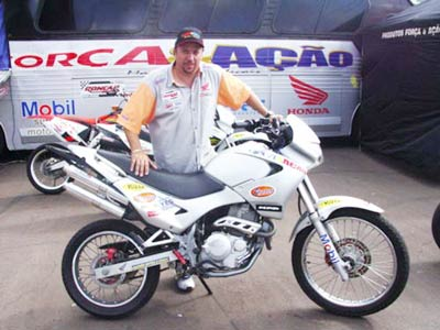 Escape / Ponteira Coyote Competition Alumínio Duplo NX Falcon 400 2006 até 2008 / 2013 - Polido - Honda