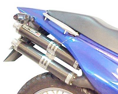 Escape / Ponteira Coyote Competition Duplo em Alumínio - Falcon NX 400 até 2005 - Honda