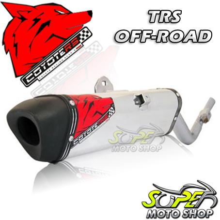 Escape / Ponteira Coyote TRS Off-Road Aluminio Polido com Boca Preta CRF 230 - Honda