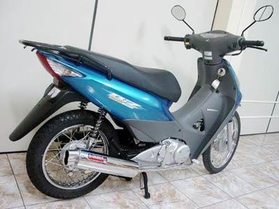 Escapamento Aluminium RS Boca 8 Oval Biz 125 até 2010 - Cromado - Honda