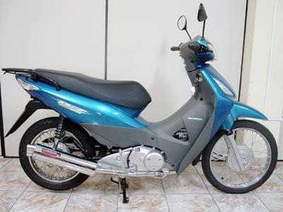 Escapamento Aluminium RS Boca 8 Oval Biz 100 até 2005 - Cromado - Honda