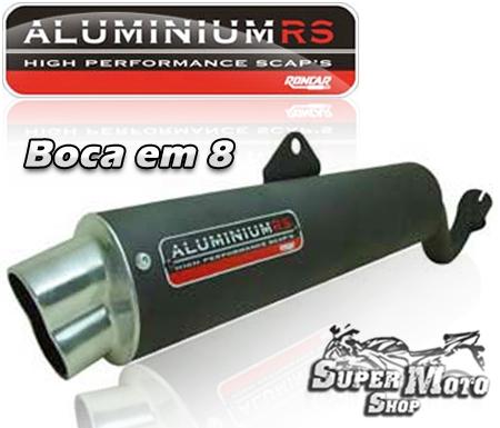 Escape Aluminium RS Boca em 8 Preto - XTZ 125