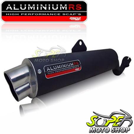 Escapamento Aluminium RS Boca 8 Oval NX-R Bros 150 2009 em Diante - Preto - Honda