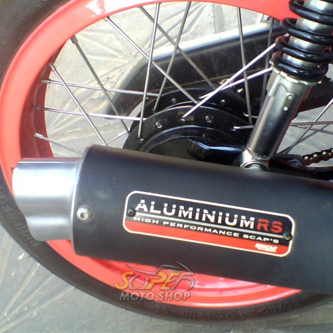 Escapamento Aluminium RS Boca 8 Oval STX Motard 200 - Preto - Sundown