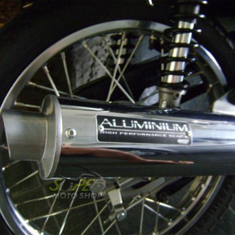 Escapamento Aluminium Esportivo Redondo Crypton 105 até 2005 - Cromado - Yamaha