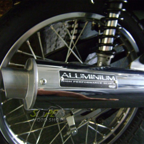 Escapamento Aluminium Esportivo Redondo Burgman 125 até 2010 - Cromado - Suzuki