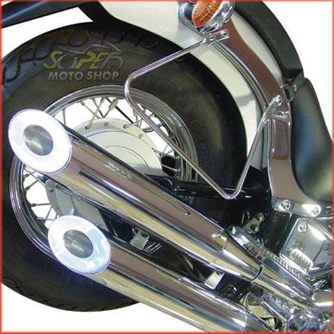 Escapamento Duplo Cromado com Ponteira em Alumínio Drag Star 650 até 2005 - Yamaha