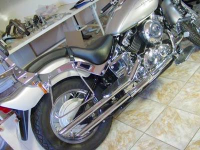 Escapaento Duplo Cromado com Ponteira em Alumínio Drag Star 650 até 2005 - Yamaha