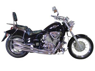 Escapamento Duplo Cromado Modelo V-Rod Shadow 600 - Honda