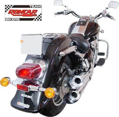 Escapamento Esportivo Scorpion Modelo V-Rod Cromado Boulevard C 1500 até 2010 - Suzuki
