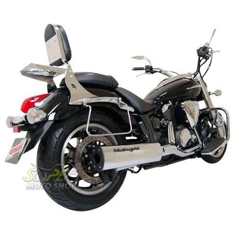 Ponteira Esportiva Scorpion Modelo Black Cromado Midnight Star 950 - Yamaha