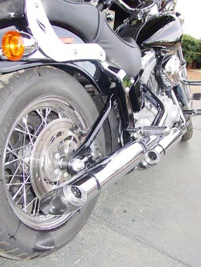 Escapamento Esportivo Scorpion Modelo V-Rod Cromado HD Softail Fat Boy / Heritage / até 2005 - Harley Davidson