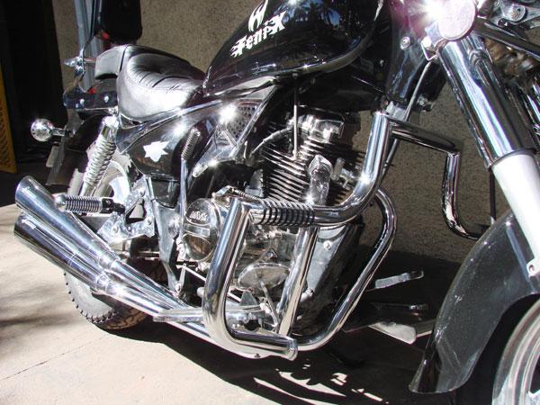 Escapamento Esportivo Scorpion Modelo V-Rod Cromado Fênix 250 - MVK