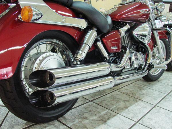 Escapamento Esportivo Scorpion Modelo Duplo Chanfrado Cromado Shadow 750 até 2009 - Honda