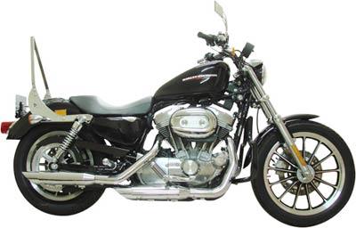 Escapamento Esportivo Scorpion Modelo V-Rod com Chanfro Baixo Cromado HD SportSter XL 883 / 1200 2004 até 2010 - Harley Davidson