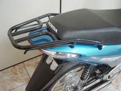 Bagageiro Convencional Preto - C 125 Biz Até 2010