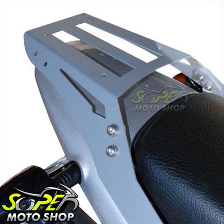 Bagageiro / Suporte Roncar em Chapa Reforçado Falcon NX 400 até 2008 - Prata - Honda