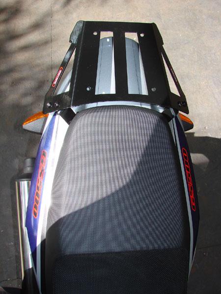 Bagageiro / Suporte Roncar em Chapa Reforçado GS 500 2001 em Diante - Preto - Suzuki