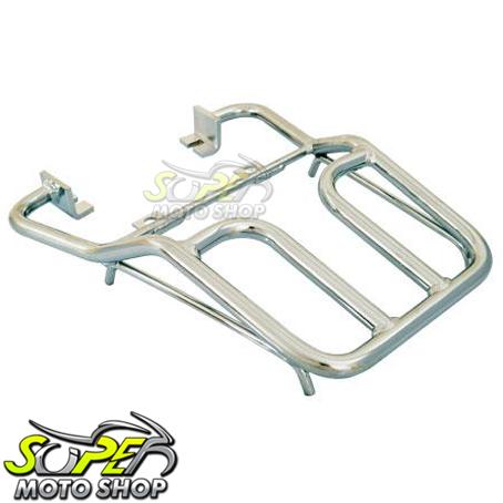 Bagageiro / Suporte Roncar Modelo Hércules Reforçado YES 125 - Cromado - Suzuki