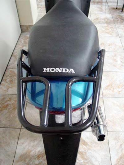 Bagageiro / Suporte Roncar Modelo Hércules Reforçado Biz 125 até 2010 - Preto - Honda