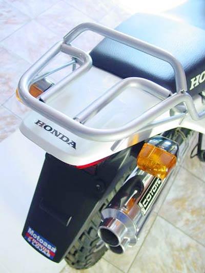 Bagageiro / Suporte Roncar Modelo Hércules Reforçado Bros NX-R 125 até 2008 - Grafite - Honda