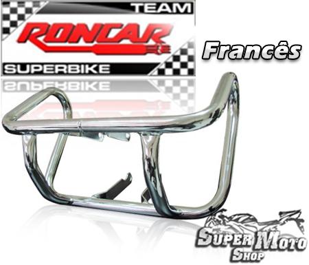 Protetor de motor modelo francês preto - Flash 150