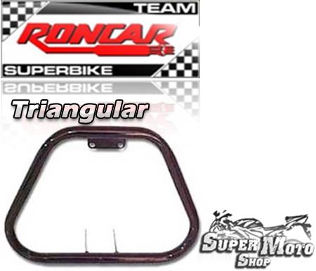 Protetor de Motor Triangular Preto - CG Ano 1978 até 1990 / ML / Today / Turuna
