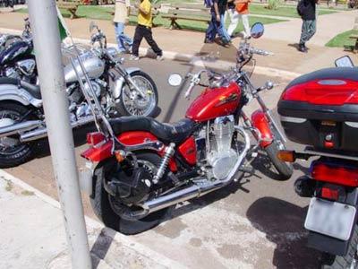Protetor de Motor Com Pedaleiras Dobráveis Cromado - Savage 650