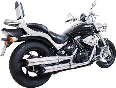 Protetor de Motor / Mata Cachorro Modelo Wild Style Cromado - Boulevard M800 - Suzuki ano 2006 até 2011